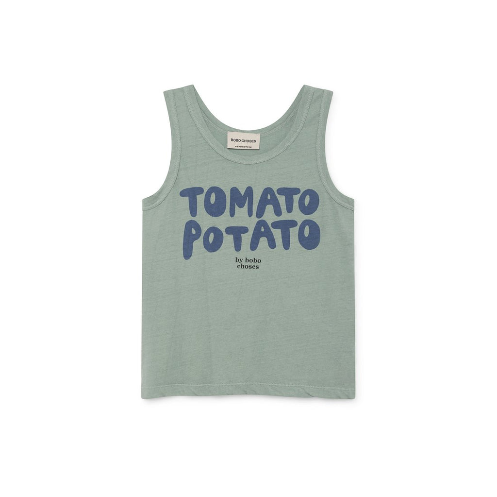 Tomato Potato Linen Tank Top - Kids Edition