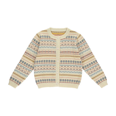 Bert Cardigan-Fair Isle Sunrise - Kids Edition