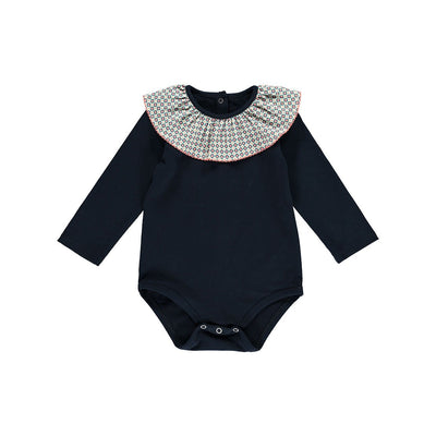 Kara Organic Cotton Romper-Midnight Blue - Kids Edition