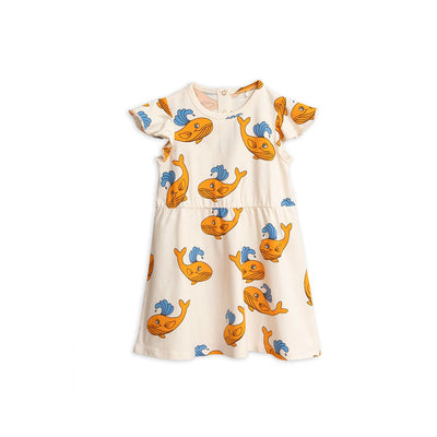 Whale Aop Wing Dress - Kids Edition