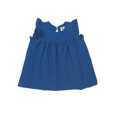 Blue Cotton and Linen Dress - Kids Edition