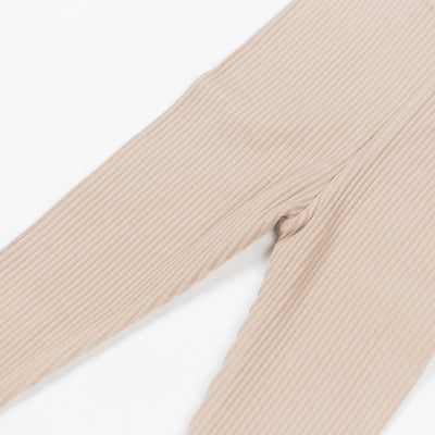Pinky Beige Cotton Leggings - Kids Edition