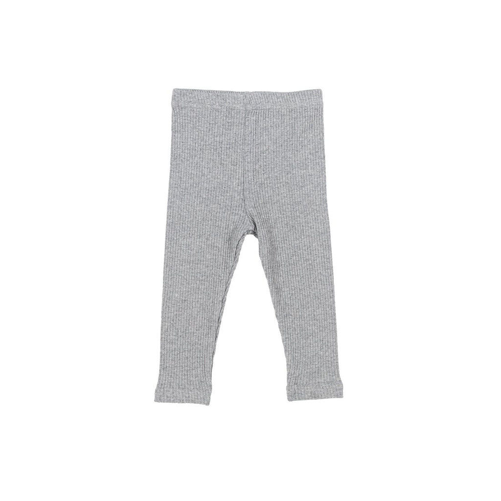 Melange Gray Cotton Leggings - Kids Edition