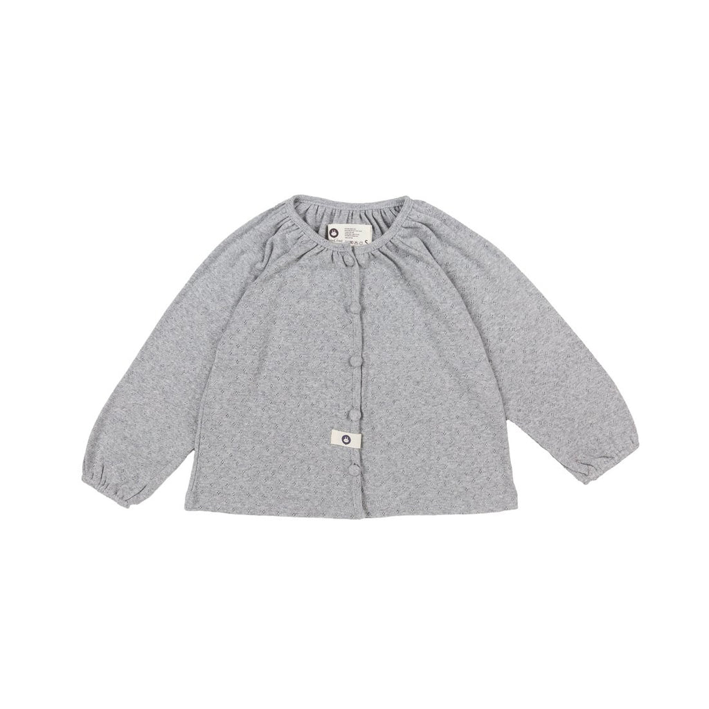 Gray Cotton Cardigan - Kids Edition