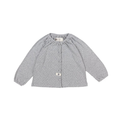 Gray Cotton Cardigan - Arim Closet, Carried by Kids Edition, Vancouver, Canada