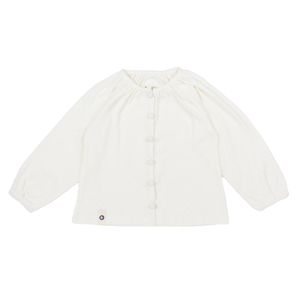 White Cotton Cardigan - Kids Edition