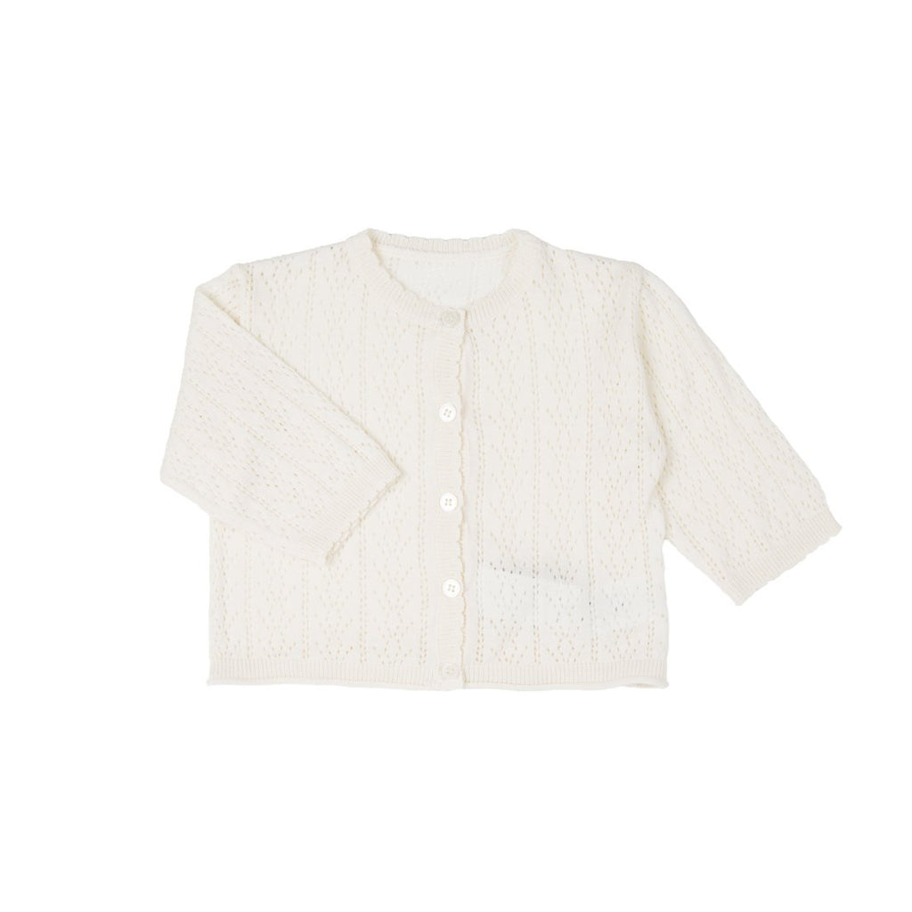 White Baby Cotton Cardigan - Kids Edition