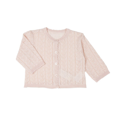 Pink Baby Cotton Cardigan - Kids Edition