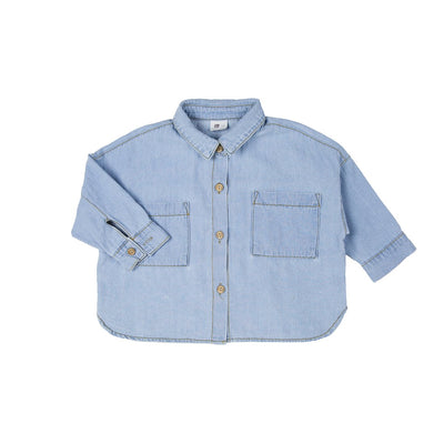 Light Blue Denim Shirt - Kids Edition