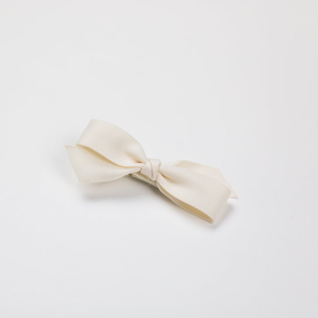 White Cream Ribbon Baby Pin - Kids Edition