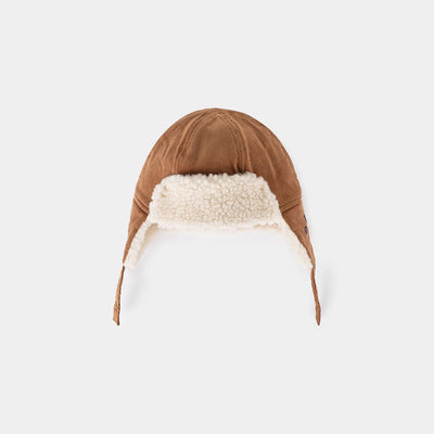 Khaki Sheepskin Baby Hat - Kids Edition