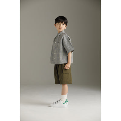 Fine Dungaree Big H/S Shirt - Kids Edition