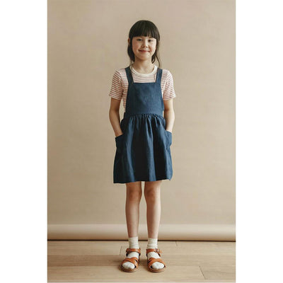 Ines Pinafore Dress - Navy - Kids Edition