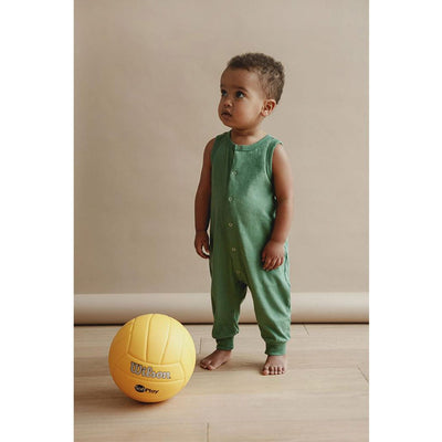 Milo Sleeveless Jumpsuit - Atlas Green - Petits Vilains,  a designer children shoes and accessories brand based in Barcelona, Spain. Carried by Kids Edition, the best online designer children clothing boutique based in Vancouver, Canada.