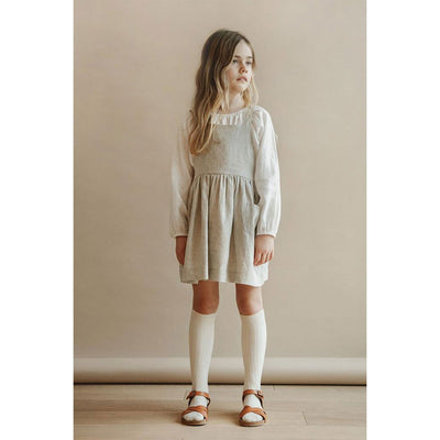 Simone Raglan Tunic - Oyster - Petits Vilains,  a designer children shoes and accessories brand based in Barcelona, Spain. Carried by Kids Edition, the best online designer children clothing boutique based in Vancouver, Canada.