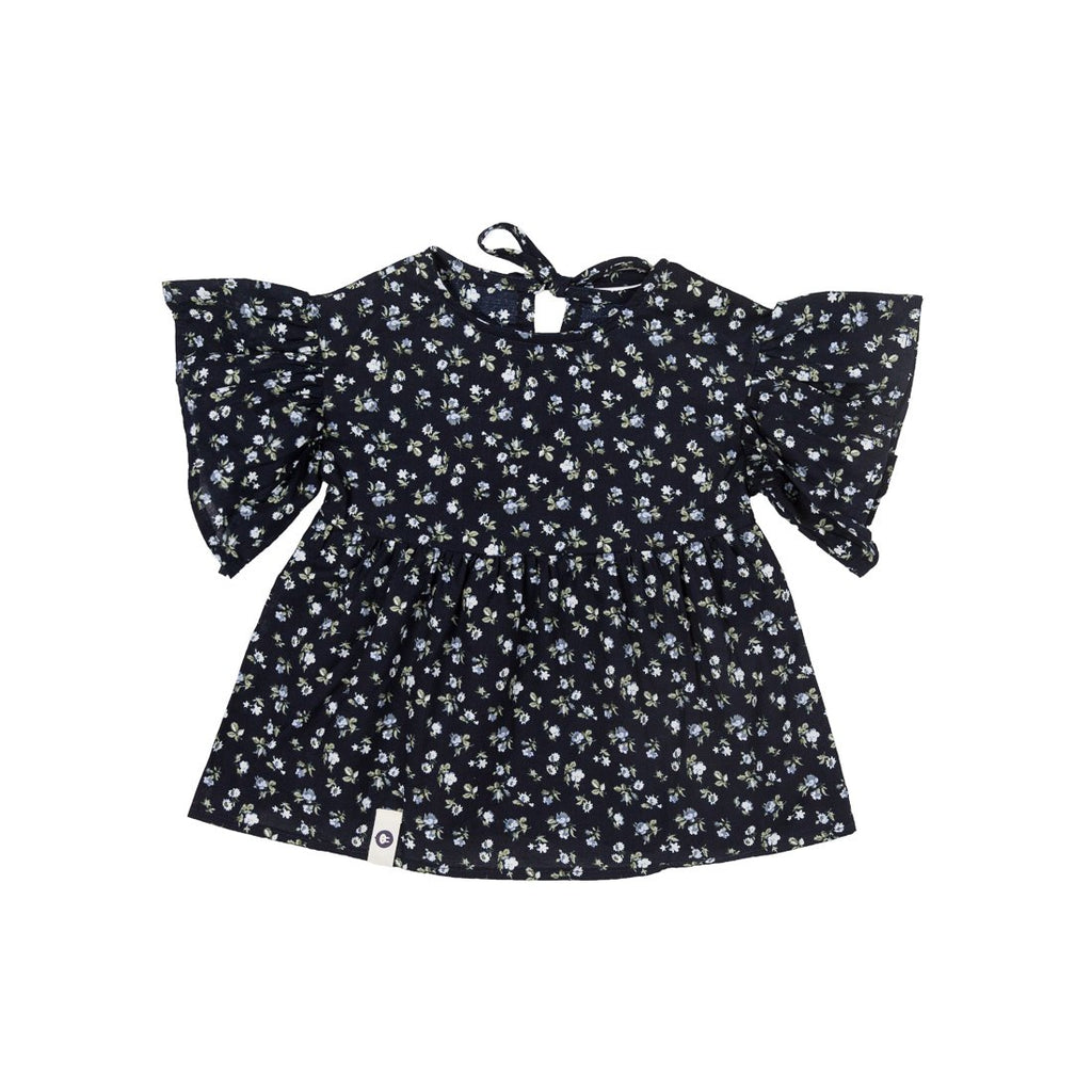 Flower Navy Wings Blouse - Kids Edition