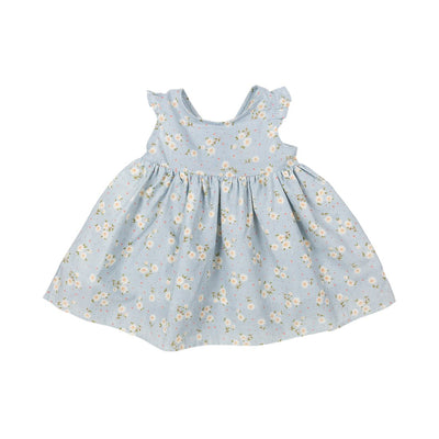 Sky Blue Flower Dress - Kids Edition