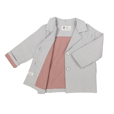 Gray Cotton Jacket - Arim Closet, Carried by Kids Edition, Vancouver, Canada