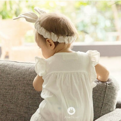 White Cute Cotton Bodysuit - Kids Edition
