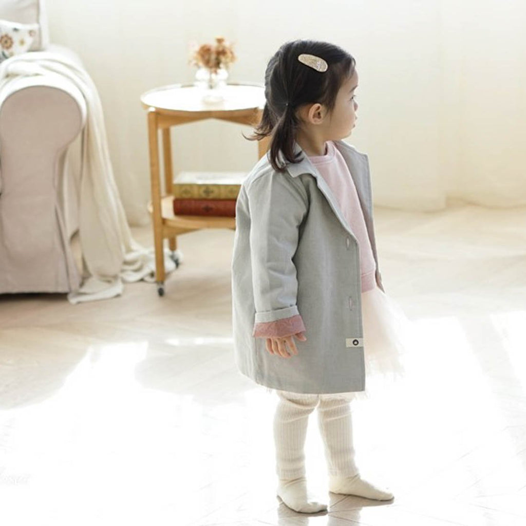 Gray Cotton Jacket - Kids Edition