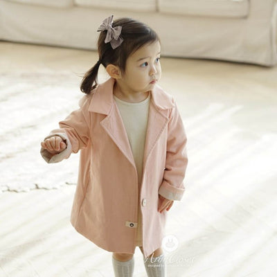 Peach Pink Cotton Jacket - Arim Closet, Carried by Kids Edition, Vancouver, Canada