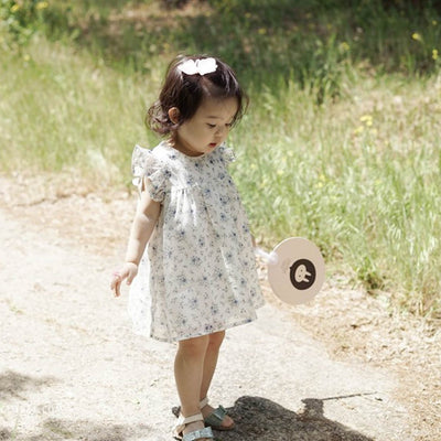 Flower Chiffon and Cotton Dress - Kids Edition