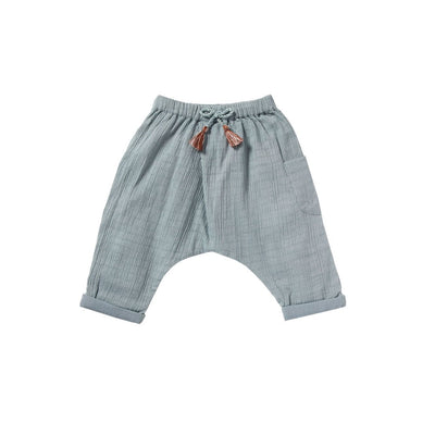 Blue Grey Bess Pants - Bonheur Du Jour,  a designer children clothing brand based in Tourcoing, France. Carried by Kids Edition, the best online designer children clothing boutique based in Vancouver, Canada.