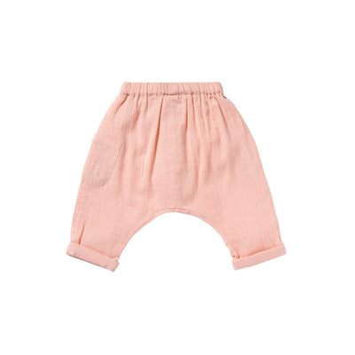 Light Pink Bess Pants - Bonheur Du Jour,  a designer children clothing brand based in Tourcoing, France. Carried by Kids Edition, the best online designer children clothing boutique based in Vancouver, Canada.