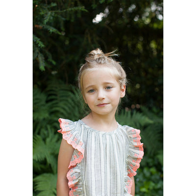 Ecru Black Bonnie Blouse - Kids Edition