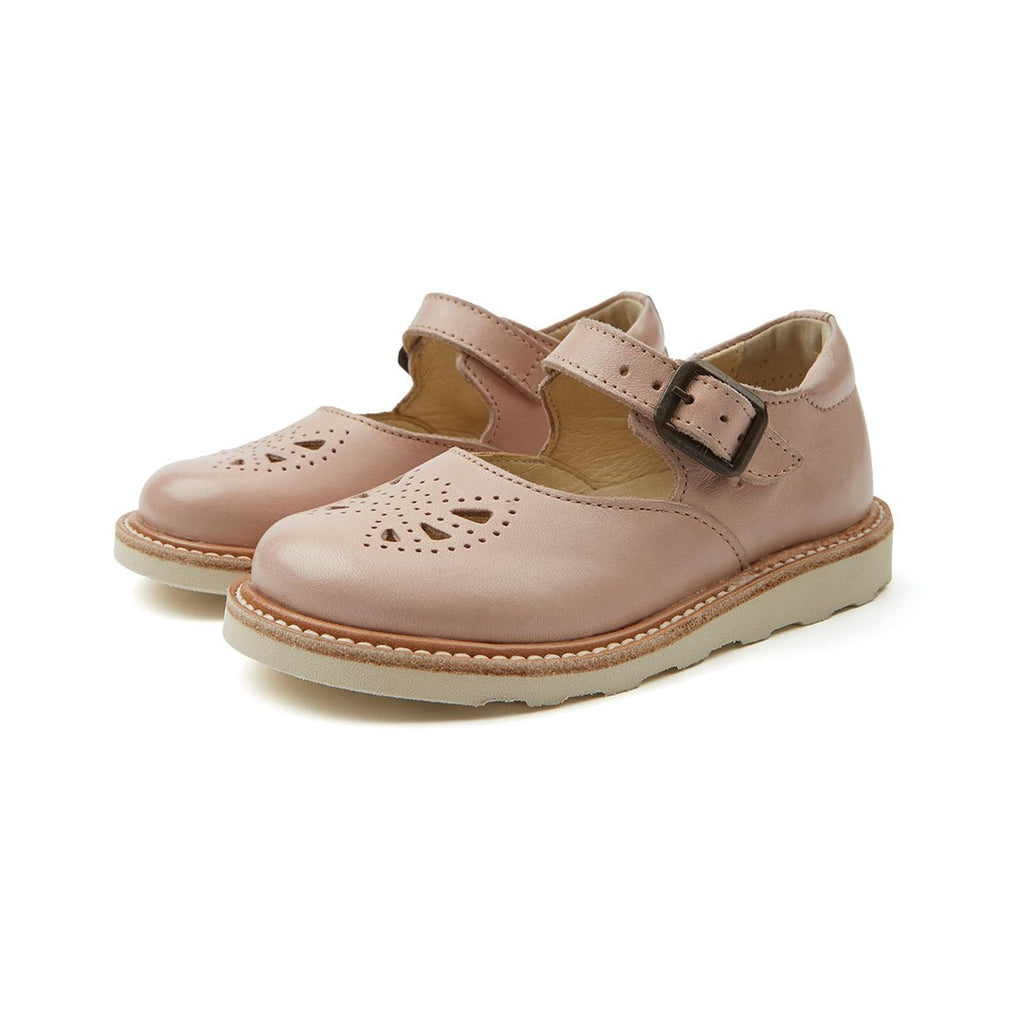 Bow Nude Pink Leather - Kids Edition