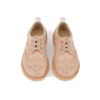 Brando Nude Pink Leather - Young Soles,  a designer children shoes and accessories brand based in London, UK. Carried by Kids Edition, the best online designer children clothing boutique based in Vancouver, Canada.