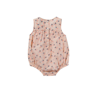 Flowers Caroline Rompers - Bonheur Du Jour,  a designer children clothing brand based in Tourcoing, France. Carried by Kids Edition, the best online designer children clothing boutique based in Vancouver, Canada.