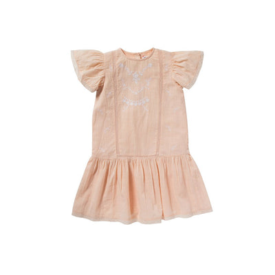 Pink Fanny Dress - Bonheur Du Jour,  a designer children clothing brand based in Tourcoing, France. Carried by Kids Edition, the best online designer children clothing boutique based in Vancouver, Canada.