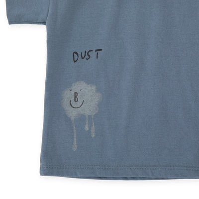 Grayish Blue Melting Dust T-Shirt - Kids Edition