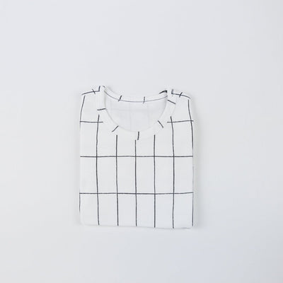 Grid Pajama Top - Kokacharm, Carried by Kids Edition, Vancouver, Canada