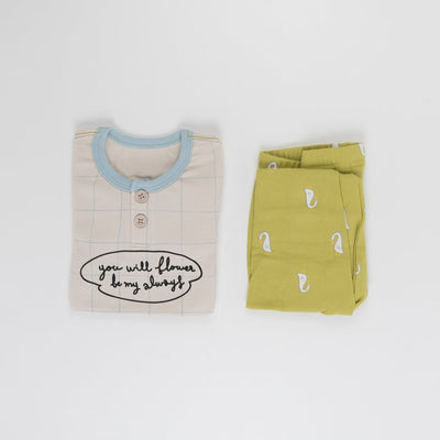 Honey Duck Longsleeve Pajama Set - Kokacharm, Carried by Kids Edition, Vancouver, Canada