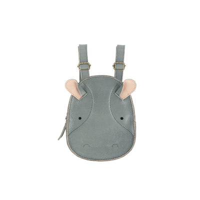 Kapi Backpack - Hippo - Donsje,  a designer children shoes and accessories brand based in Amsterdam, Netherlands. Carried by Kids Edition, the best online designer children clothing boutique based in Vancouver, Canada.