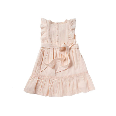 Pink Louisiane Dress - Bonheur Du Jour,  a designer children clothing brand based in Tourcoing, France. Carried by Kids Edition, the best online designer children clothing boutique based in Vancouver, Canada.