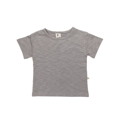 Gray Dinosaur Short Sleeve Tee - Kids Edition