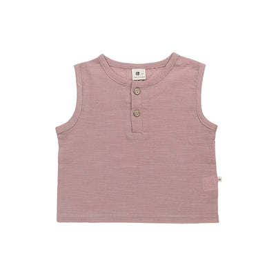 Pink Cotton Tank top - Kids Edition