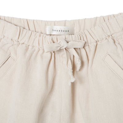 Beige Linen String Pants - Kids Edition
