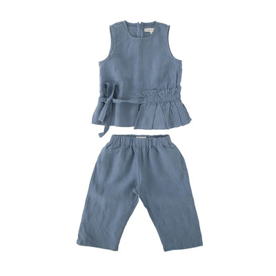 Linen Peplum Set - Bene Bene, Carried by Kids Edition, Vancouver, Canada