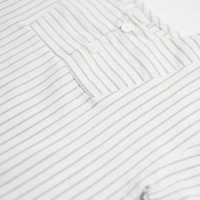 White/Beige Stripe Shirt - Kids Edition