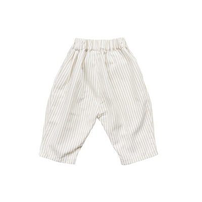 Beige Strip Pants - Kids Edition