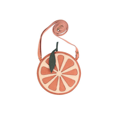 Nanoe Fruit Purse - Grapefruit - Donsje,  a designer children shoes and accessories brand based in Amsterdam, Netherlands. Carried by Kids Edition, the best online designer children clothing boutique based in Vancouver, Canada.