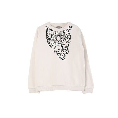 Leo Ecru Sweatshirt - Kids Edition