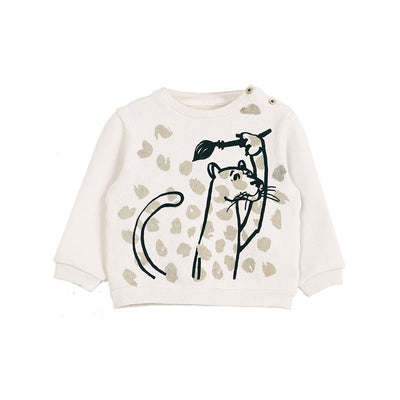 Panther Ecru Sweatshirt - Kids Edition