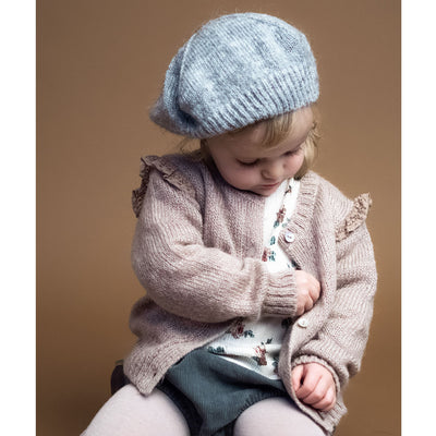 Knitted Cardigan with Lace Details On The Shoulders - Kids Edition