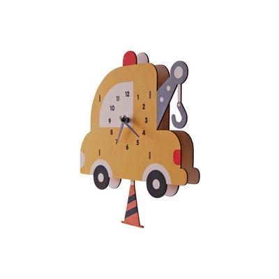 Tow Truck Pendulum Wall Clock - Kids Edition