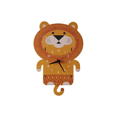Lion Pendulum Wall Clock - Kids Edition